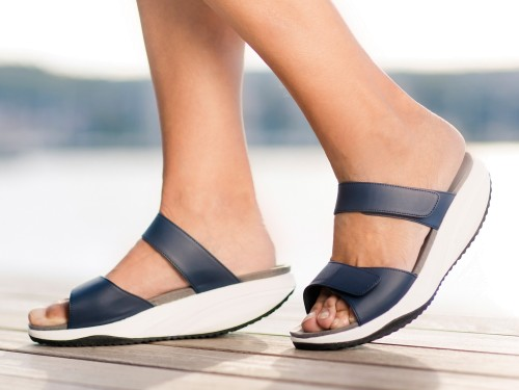 Pure Sandale de dama slip on Walkmaxx